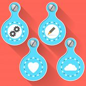 blue Objects And Icons