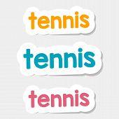 Vector Logo Tennis On A Light Background
