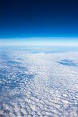 Blue Sky Above Overcast Cloud