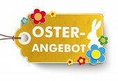 Golden Easter Offer Price Sticker