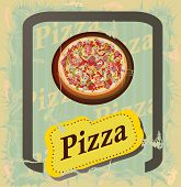 Pizza menu, vector illustration