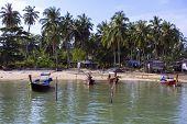 Boats near Koh Mook Island Pier.