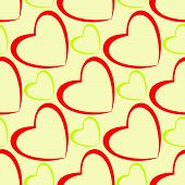 Hearts Pattern Design Seamless