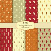Bar seamless pattern collection
