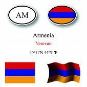 Armenia Icons Set