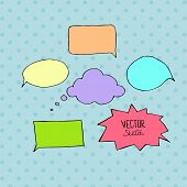 Set of blank speech bubbles with space for text