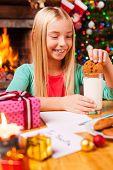 Enjoying Christmas Cookies.