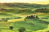 rural house on the hill among vineyards San Quirico d'Orcia