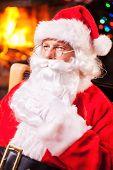 Thoughtful Santa.