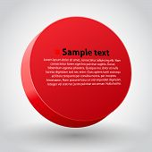 Red three dimensions sircle.