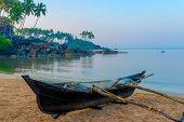 Beautiful Beach Of Goa Palolem At Dawn