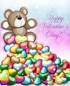 Little Teddy Bear With Hearts