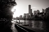 Melbourne Skyline at Sunset