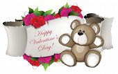 Teddy Bear And Flowers