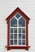 Detail Of The Husavik Church Window, Iceland
