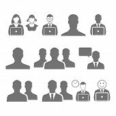 Business Man  Vector Icon Symbol, Office, Communication
