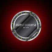 Abstract Technology Background Design With Grunge Metallic Plate