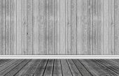 Wood Background With Skirting Floor