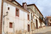Exterior of the historical buildings in Silves, Portugal.