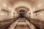 Underground Tunnel With Light