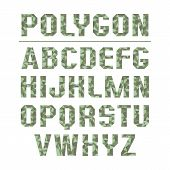 Low Polygon Sans Serif Font