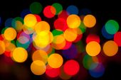 Abstract Background - Defocused Luminous Colored Objects