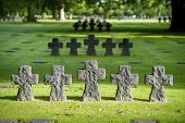 German Military Cemetery at La Cambe, Normandy, France.