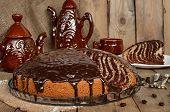Pie Zebra With Chocolate Icing