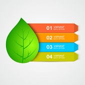 Abstract leaf menu or infographic elements.