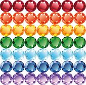 Rainbow Of Jewelry Seamless Texture Vector