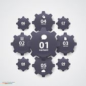Gears infographics. Vector