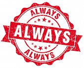 Always Red Vintage Isolated Seal