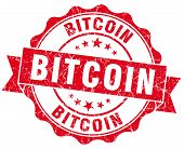 Bitcoin Red Vintage Isolated Seal