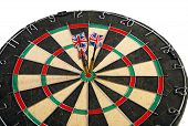 Darts With Arrows On A White Background