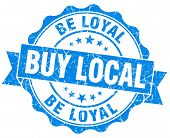 Buy Local Be Loyal Blue Vintage Isolated Seal