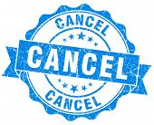 Cancel Blue Vintage Isolated Seal