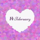 Valentines composition seamless pattern 14 February