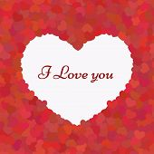 Valentines composition I Love you. Seamless pattern.