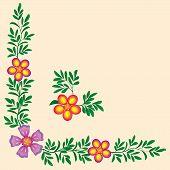 floral corner frame decoration