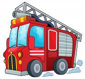 stock photo of fire truck  - Fire truck theme image 1  - JPG