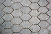 pic of paving  - dirty patterned paving tiles dirty cement brick floor background - JPG
