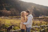 foto of straight jacket  - Beautiful young couple - JPG