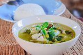 stock photo of thai cuisine  - green curry with pork thai cuisine delicious food - JPG