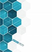 foto of hexagon pattern  - Abstract background with blue hexagonal vector pattern - JPG