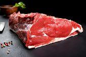 stock photo of ribeye steak  - Fresh and raw meat - JPG