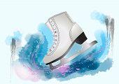 stock photo of skate  - figure skating - JPG