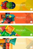 picture of universal sign  - Collection of flat web infographic concepts and banners - JPG