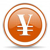 pic of yen  - yen orange icon   - JPG