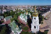 foto of kiev  - aerial view of Saint Sophia Cathedral in Kiev - JPG