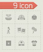 stock photo of missing  - Vector Mini Miss icon set on grey background - JPG
